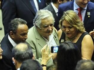 Presidente do Uruguai, José Mujica, acompanha posse de Dilma Rousseff, em Brasília (01.01.15)
