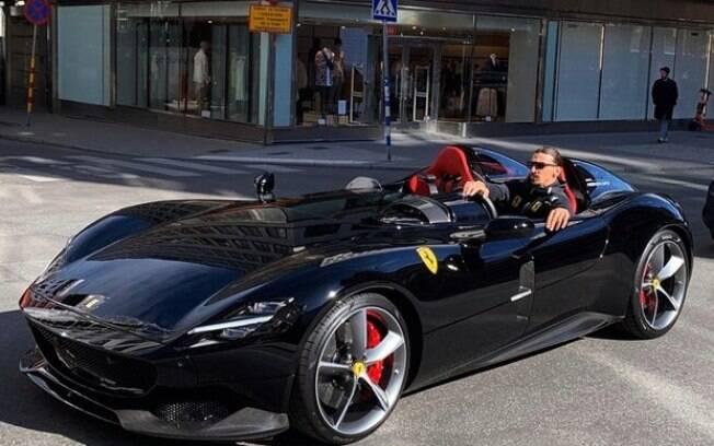 Ferrari Monza SP2 de Ibrahimovic é uma das criações mais exclusivas da marca