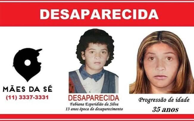 Fabiana Espiridião da Silva, desaparecida desde 1995