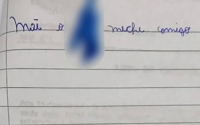 Por meio do bilhete a criança de 11 anos contou que era alvo de estupros