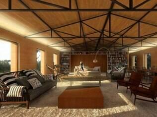 A madeira nos ambientes confere aconchego ao imóvel projetado para um casal com dois filhos