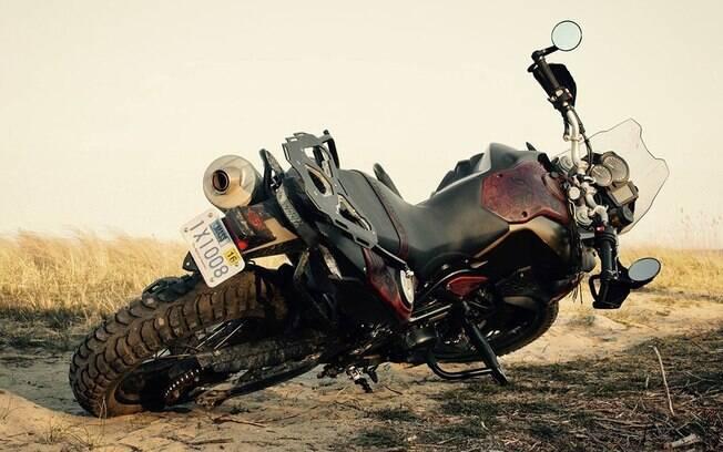 BMW GS acabamento em couro. Foto: Divulgação
