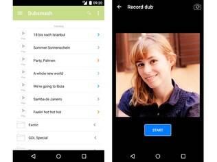 Gratuito e disponível para Android e iOS, Dubsmash é um aplicativo para fazer dublagens de músicas e de bordões e transformá-los em vídeos de poucos segundos