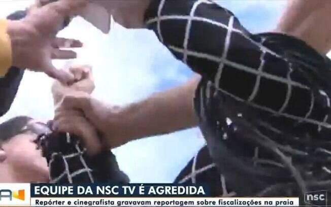 Equipe da Globo é agredida por banhistas em Florianópolis