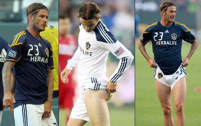 O jogador do Los Angeles Galaxy mostra que é sexy até em campo