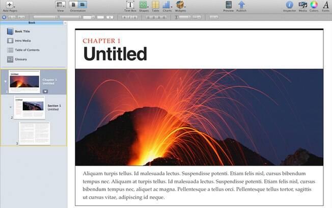 Software iBooks Author permite criar livros digitais, mas que só podem ser vendidos pela loja da Apple