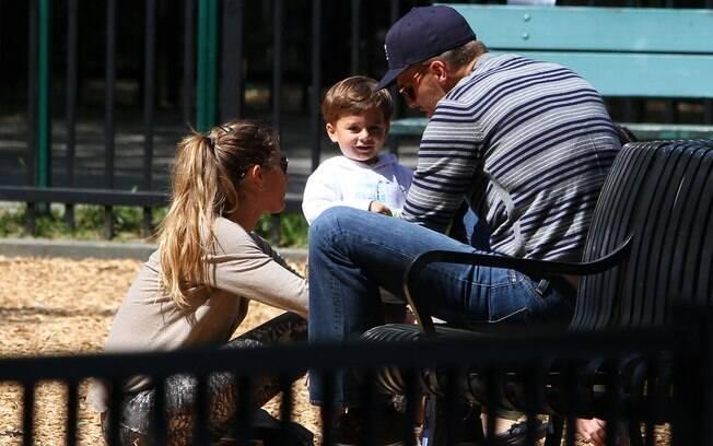 O flagra foi feito durante um passeio num parquinho com o marido e o filho