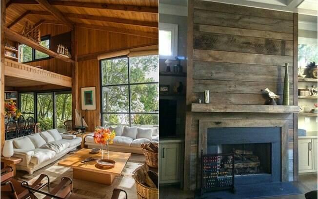 A madeira é super lembrada quando se fala de decoração rústica
