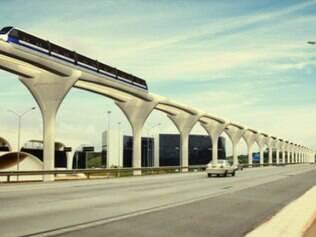 Transporte sobre trilhos deve ligar o centro de Belo Horizonte ao Aeroporto de Confins