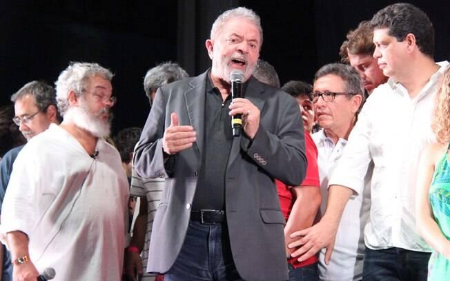 Luiz Inácio Lula da Silva durante evento em comemoração ao aniversário de 36 anos do PT