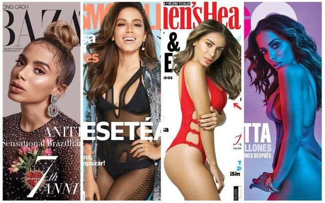 Anitta foi a capa de diversas publicações internacionais em 2018