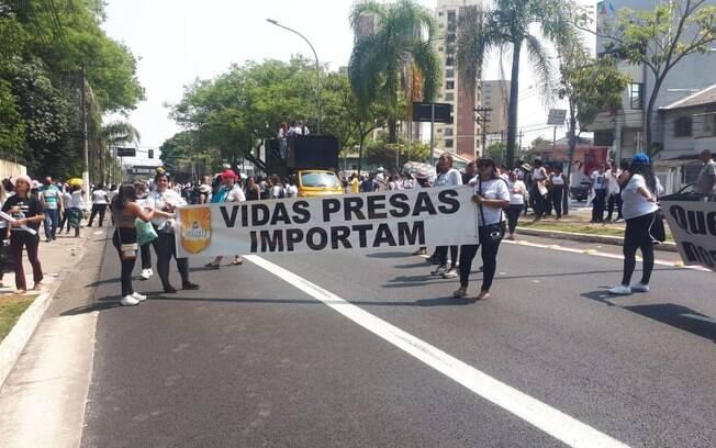 Protesto de familiares dos presos de São Paulo