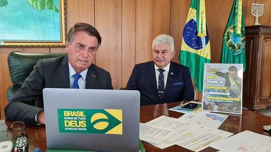 Bolsonaro em entrevista à rádio Farol, de Alagoas