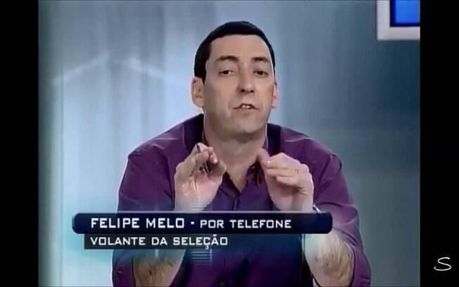 PVC e Felipe Melo discutem ao vivo