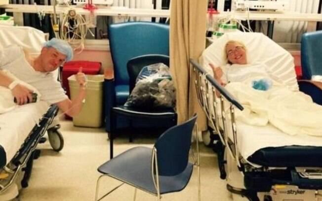 Nas semanas anteriores ao transplante, eles começaram a passar cada vez mais tempos juntos