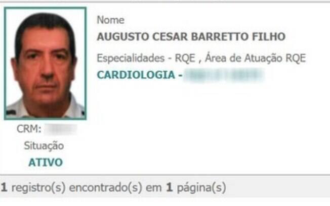 Cardiologista é investigado por Cremesp e continua com o perfil ativo