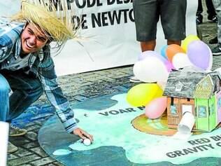 Brasil. Participante da etapa em São Paulo, que aconteceu no dia 22 de outubro, comemora aterrissagem