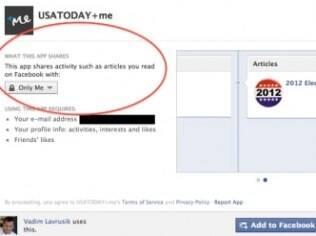 Página do aplicativo no Facebook mostrará informações detalhadas sobre dados pessoais usados pelo aplicativo