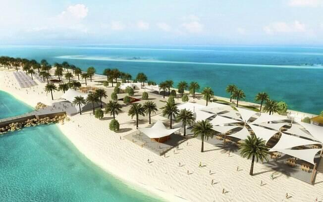 A ilha Sir Bani Yas traz ao hóspede do cruzeiro as belezas naturais das arábias