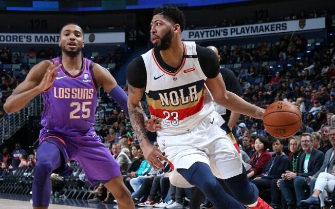 No melhor jogo da rodada da NBA, a franquia de Phoenix bateu os Pelicans na prorrogação