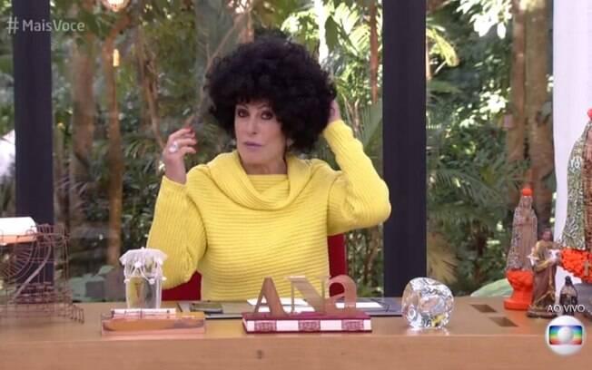 Ana Maria Braga usa peruca black power no