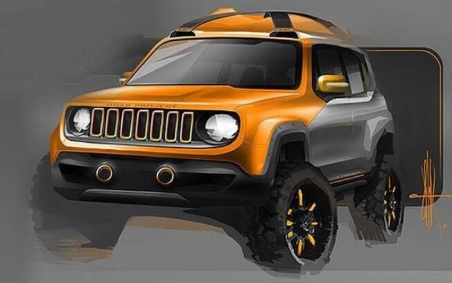 Mini SUV da Jeep será menor que o Renegade, que aparece em versão conceitual na imagem acima, com acessórios Mopar