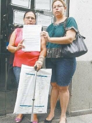 Terezinha e Jacilene só acreditam que vão conseguir ser atendidas quando chegar o dia agendado
