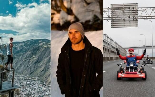 Mayr largou o emprego em uma imobiliária para realizar o sonho de viajar pelo mundo e postar fotos em seu Instagram