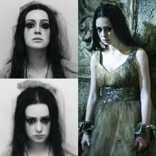 Marina Ruy Barbosa caracterizada para o seriado 'Amorteamo'