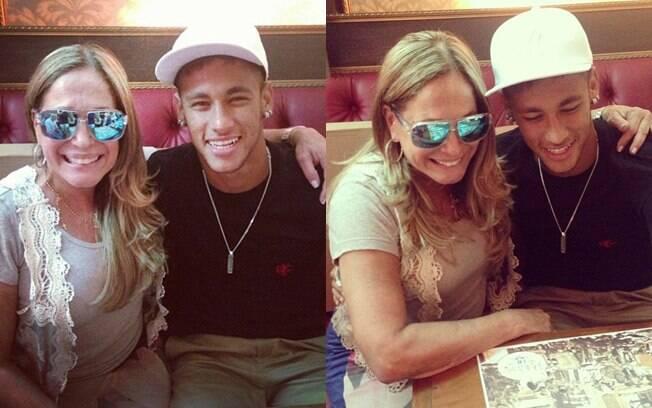 Susana Vieira tietou o jogador Neymar em um restaurante na capital paulista
