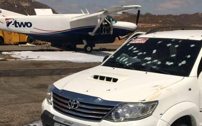 Agentes da Polícia Federal trocaram tiros com assaltantes em ação que deixou cinco mortos em aeroporto