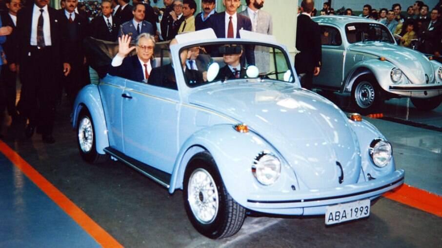 Fusca conversível foi um dos pedidos feitos à VW para a apresentação oficial de lançamento do modelo