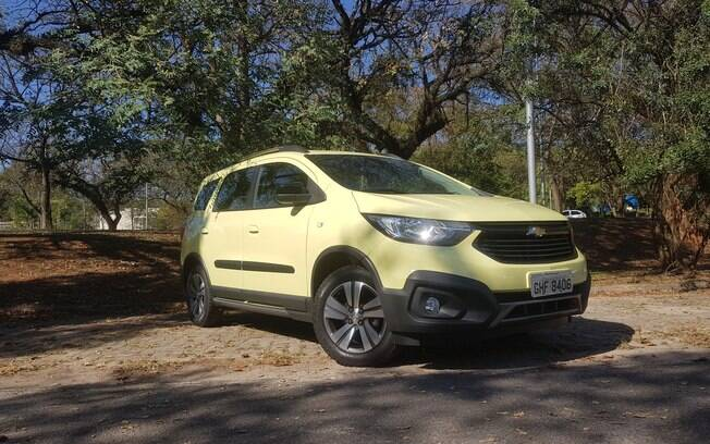 Chevrolet Spin Activ 2019: a cor chama atenção e divide opiniões. A GM diz que trata-se apenas de um modelo de lançamento