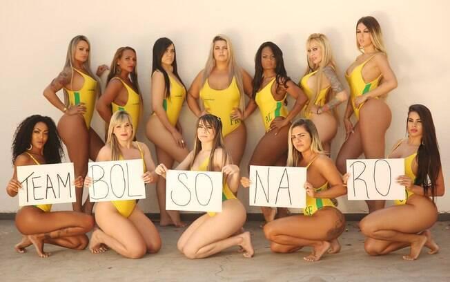 12 candidatas ao Miss Bumbum demonstraram estar à favor de Jair Bolsonaro, candidato a presidente do Brasil em 2018