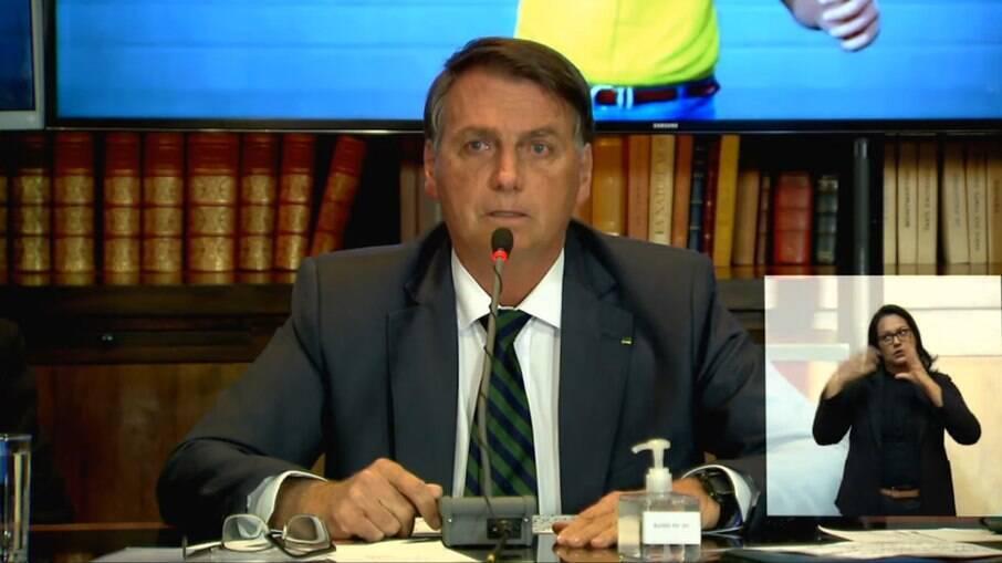 Presidente Jair Bolsonaro (sem partido) em live que prometeu apresentar fraude das urnas, mas não cumpriu