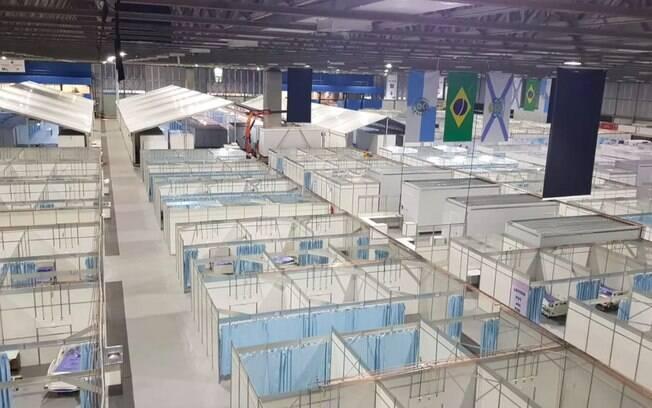 Na foto, hospital campanha Riocentro