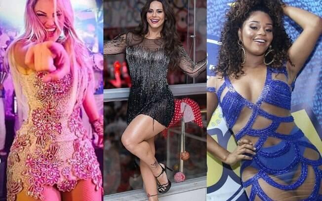 Conheça as rainhas de bateria do Rio de Janeiro e de São Paulo