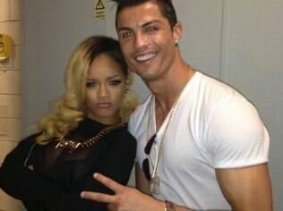 Cristiano Ronaldo encontrou Rihanna em um show da cantora em Lisboa em maio
