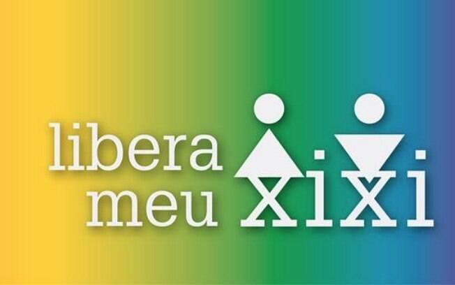 Cartazes da campanha liberameuxixi pedindo acesso livre das pessoas trans aos banheiros que correspondem ao gênero com que se identificam