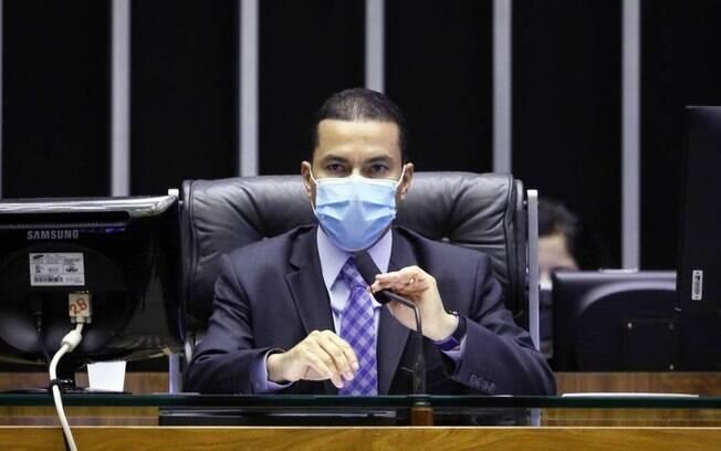 O deputado Marcos Pereira, do Republicanos, em sessão na Câmara