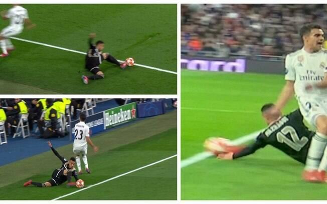 Real Madrid reclama de saída de bola no lance do terceiro gol do Ajax