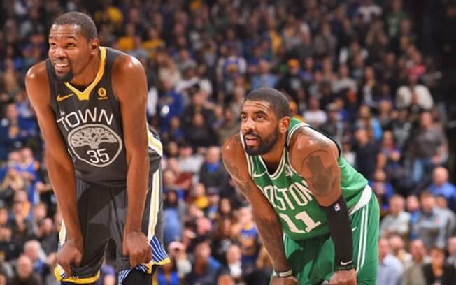 Kevin Durant e Kyrie Irving serão companheiros no Nets