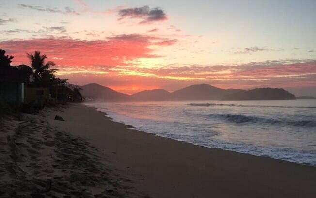 Pôr do Sol na Praia de Massaguaçu