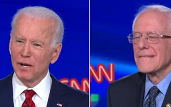 Debate do Partido Democrata entre Biden e Sanders