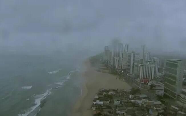 Imagem captada pelo Globocop antes da queda em Pernambuco na manhã desta terça-feira