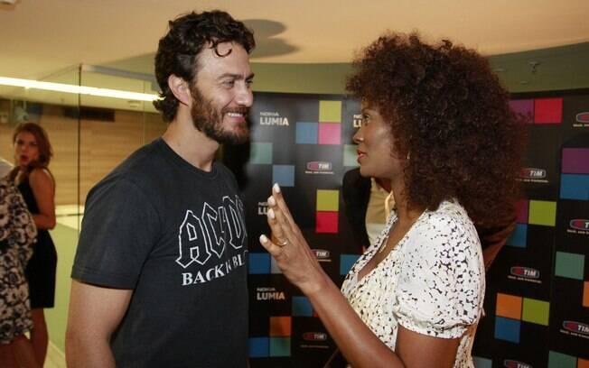 Gabriel Braga Nunes com a atriz Izabel Fillardis