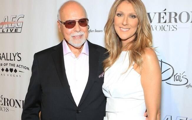 Celine Dion e o marido René Angélil