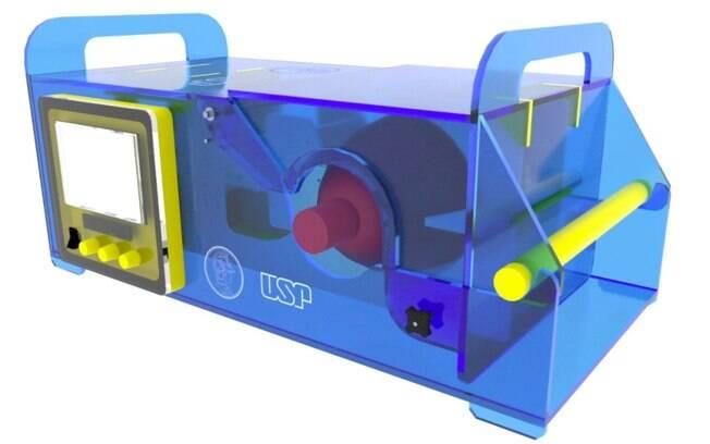Respirador Inspire, criado por pesquisadores da Poli-USP; Site 'USP Vida' foi criado para receber doações para fomentar pesquisas sobre Covid-19