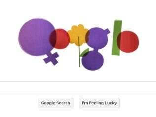 Logotipo desenvolvido pelo Google para homenagear as mulheres