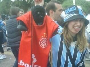 ESPORTES - RACISMO - 29.08.2014 Patricia Moreira , torcedora gremista que chamou o goleiro Aranha de